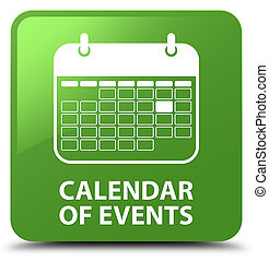 Calendar of events soft green square button
