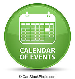 Calendar of events special soft green round button