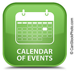 Calendar of events special soft green square button