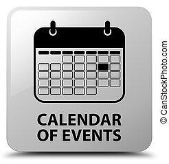 Calendar of events white square button