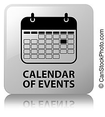 Calendar of events white square button