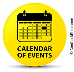 Calendar of events yellow round button