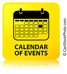 Calendar of events yellow square button