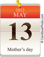Calendar of mothers day