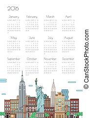 Calendar on city background, vector