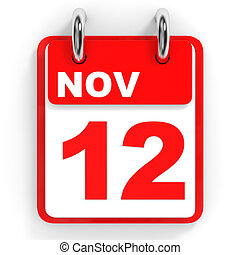 November 12 Day On The Calendar 3d