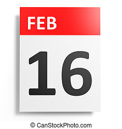 Image result for 16th february calendar