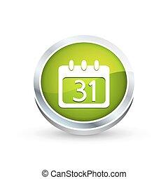Calendar organizer icon, button