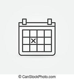 february 14 calendar icon outline style february 14 calendar icon