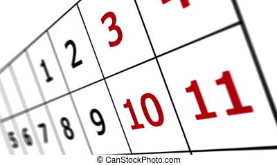 """""""Calendar page """" - """"Calendar page with date of 31st. Shallow..."""
