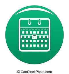 Calendar page icon green