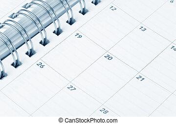 Calendar close up shot for background