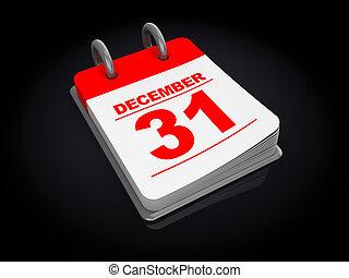 calendar - 3d illustration of calendar over black background