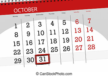 Calendar planner for the month, deadline day of the week...