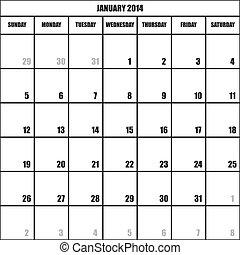 CALENDAR PLANNER JANUARY 2014 impact