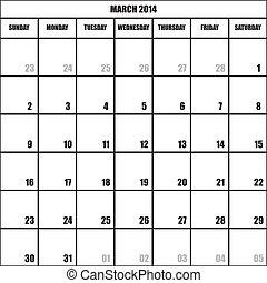 CALENDAR PLANNER MARCH 2014 impact