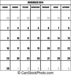 CALENDAR PLANNER NOVEMBER 2014 impact