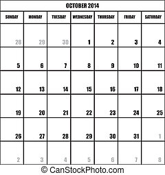 CALENDAR PLANNER OCTOBER 2014 impact