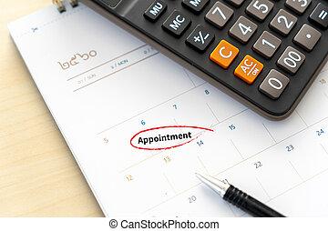 calendar planning concept Agenda Appointment Plan