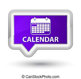 Calendar prime purple banner button