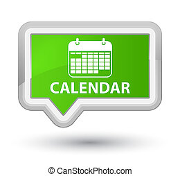 Calendar prime soft green banner button