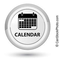 Calendar prime white round button