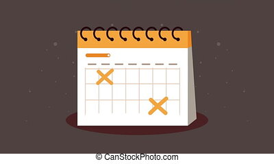 calendar reminder date animation ,4k video animated