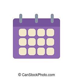 calendar reminder office flat icon design