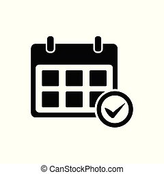 Calendar, schedule and check icon vector for for graphic design, logo, web site, social media, mobile app, ui illustration