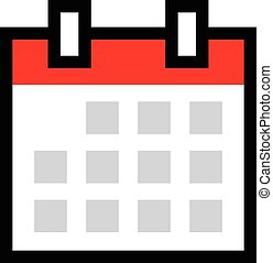Calendar Schedule vector icon