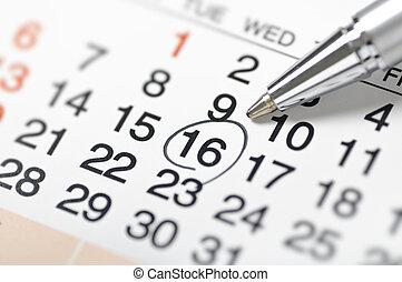 calendar-setting, a, datum
