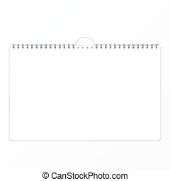 Calendar sheet of paper on a white background