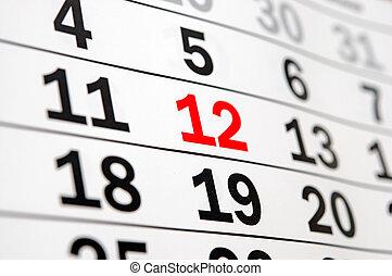 calendar showing end of time or deadline