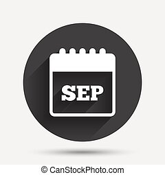 Calendar sign icon. September month symbol.