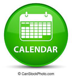 Calendar special green round button