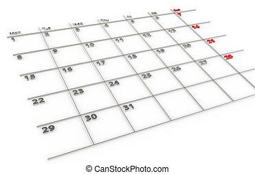 Calendar of Steel