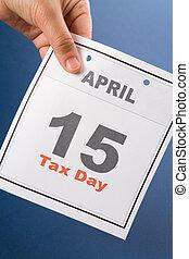 Calendar Tax Day - Tax Day, calendar date April 15 for ...