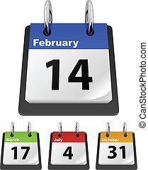 Calendar template with sample dates %u2013 Valentine%u2019s...