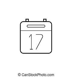 Calendar thin line icon, outline vector logo