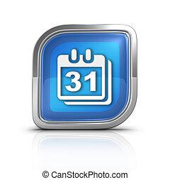 Calendar Time Blue Icon Sign