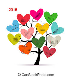 Calendar tree 2015 for your design