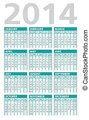 calendar vector 2014