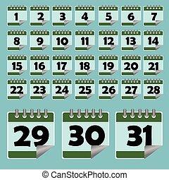 calendar vector icon illustration