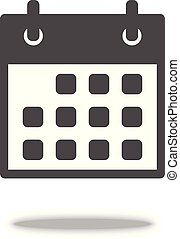 Calendar vector Icon in flat style isolated on grey background. For your web site design, logo, app, UI. Vector illustration