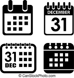 Calendar vector icon set
