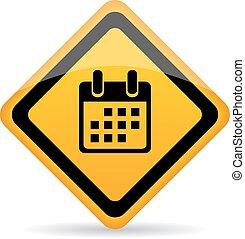 Calendar vector sign