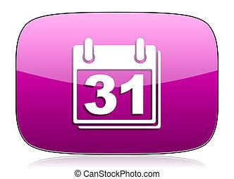 calendar violet icon organizer sign agenda symbol