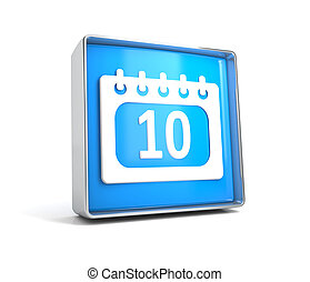 Calendar - web button isolated on white background