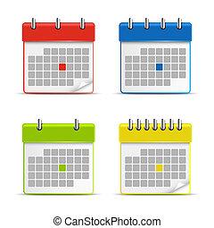 Calendar web colored icons