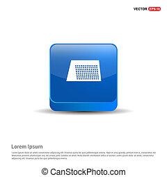 Calendar web icon - 3d Blue Button